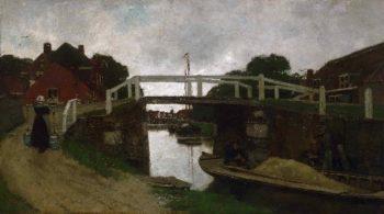 Canal near Rijswijk | Jacob Hendricus Maris | oil painting
