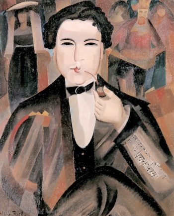 Arthur Honegger with King David | Alice Bailly | oil painting