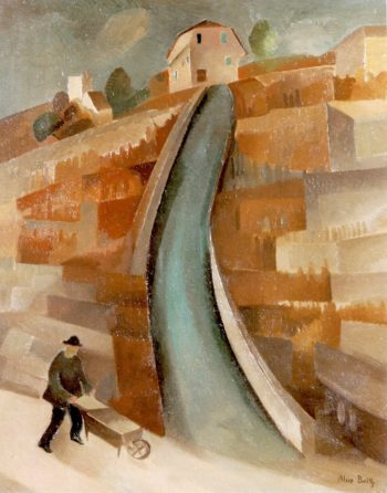 A Steep Slope in the Vineyards | Alice Bailly | oil painting