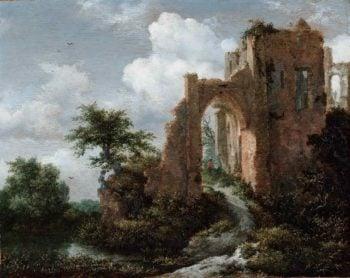 Entrance Gate of the Castle of Brederode | Jacob Isaacksz van Ruisdael | oil painting