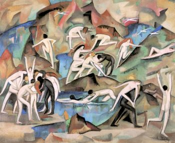Bacchanale among the Rocks | Alice Bailly | oil painting