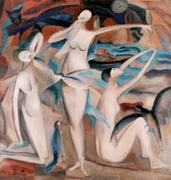 Bathers with Birds | Alice Bailly | oil painting