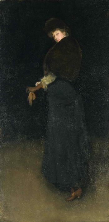 Arrangement in Black (The Lady in the Yellow Buskin) | James Abbott McNeill Whistler | oil painting