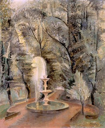 Borghese Gardens No 1 Water Fountain | Alice Bailly | oil painting