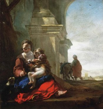 Rest on the Flight into Egypt | Jan Baptist Weenix | oil painting
