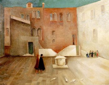 Courtyard Interior | Alice Bailly | oil painting
