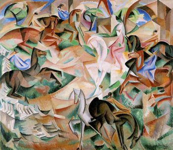 Equestrian Fantasy with Pink Lady I | Alice Bailly | oil painting
