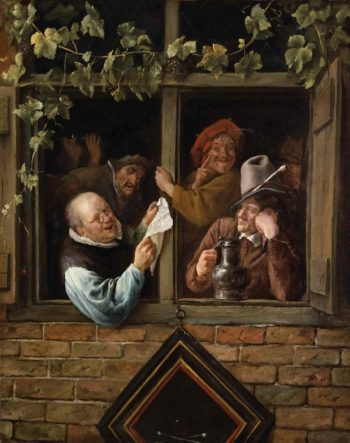 Rhetoricians at a Window | Jan Steen | oil painting