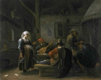 Tavern Scene with a Pregnant Hostess | Jan Steen | oil painting