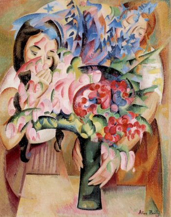 Flowers and Figures | Alice Bailly | oil painting
