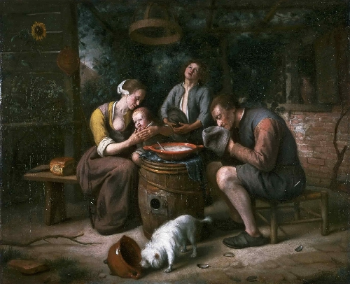 The Hague Prayer before the Meal | Jan Steen | oil painting