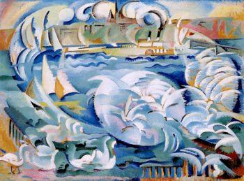 Geneva Harbor | Alice Bailly | oil painting