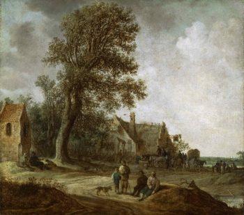 Peasants Resting before an Inn | Jan van Goyen | oil painting
