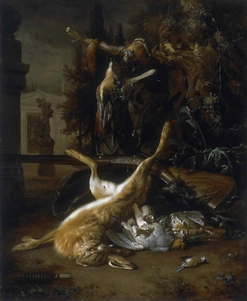 Still Life with a Hare and Birds | Jan Weenix | oil painting