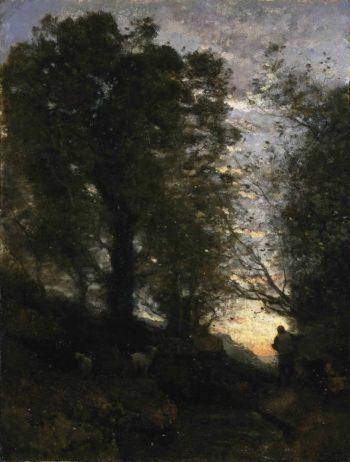 Goatherd of Terni   Jean-Baptiste-Camille Corot   oil painting