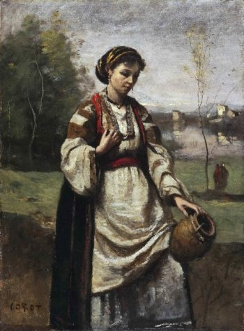 Gypsy Girl at a Fountain | Jean-Baptiste-Camille Corot | oil painting