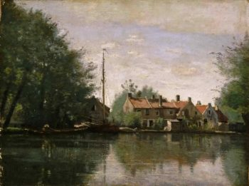 View in Holland | Jean-Baptiste-Camille Corot | oil painting