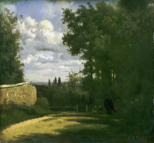 Ville dAvray | Jean-Baptiste-Camille Corot | oil painting