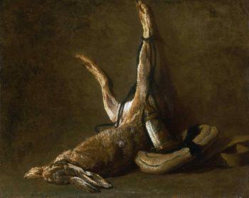 Still Life with a Hare | Jean-Baptiste-Simeon Chardin | oil painting