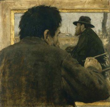 Artist Painting | Jean-Francois Raffaelli | oil painting