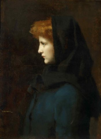 Head of a Girl | Jean-Jacques Henner | oil painting