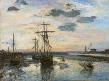 Port of Honfleur at Evening | Johan Barthold Jongkind | oil painting