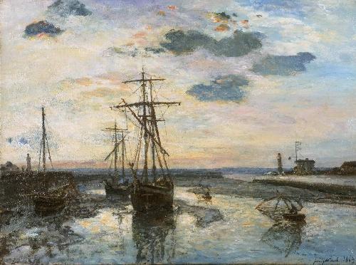 Port of Honfleur at Evening | Johan Barthold Jongkind | oil painting