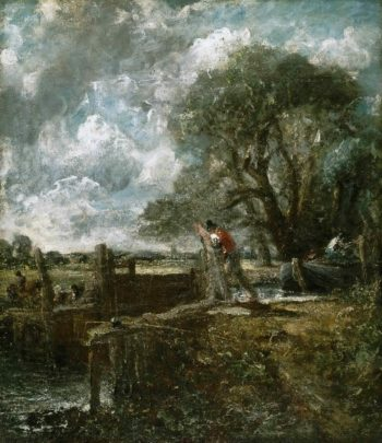 A Boat Passing a Lock | John Constable | oil painting