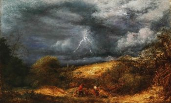 The Storm (The Refuge) | John Linnell | oil painting