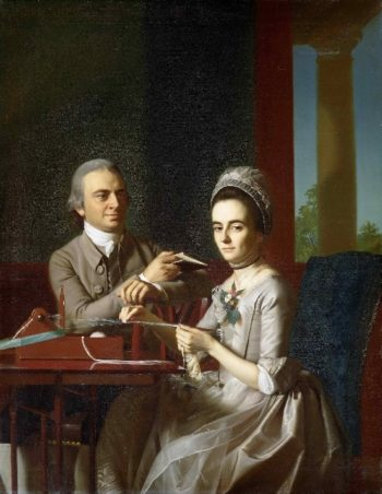 Portrait of Mr and Mrs. Thomas Mifflin (Sarah Morris) | John Singleton Copley | oil painting