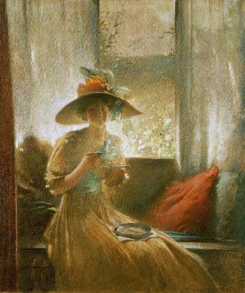 The Gossip | John White Alexander | oil painting