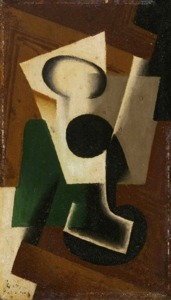 Still Life with a Glass | Juan Gris (Jose Victoriano Gonzalez Perez) | oil painting