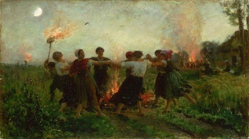 The Feast of Saint John | Jules-Adolphe-Aime-Louis Breton | oil painting