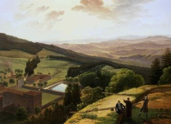 The Monastery of Vallombrosa and the Arno Valley Seen from Paradisino | Louis Gauffier | oil painting