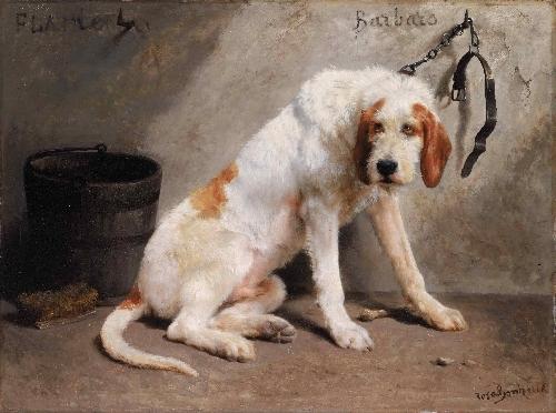 Barbaro after the Hunt   Marie-Rosalie Bonheur   oil painting