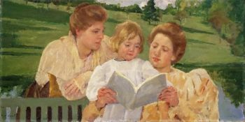 Family Group Reading | Mary Stevenson Cassatt | oil painting