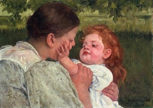 Maternal Caress | Mary Stevenson Cassatt | oil painting
