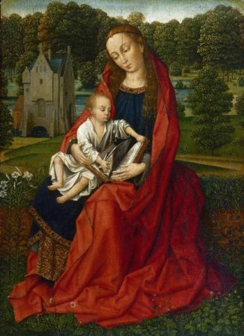 Virgin and Child in a Landscape | Master of the Embroidered Foliage | oil painting