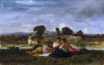 Bathers | Narcisse-Virgile Diaz de la Pena | oil painting