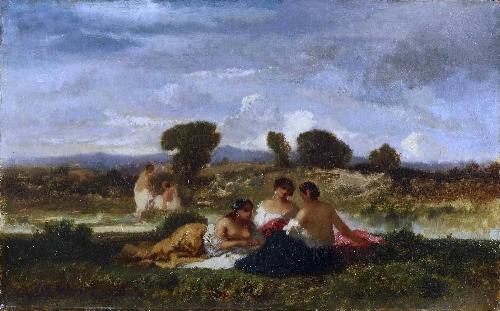 Bathers | Narcisse-Virgile Diaz de la Pena | oil painting