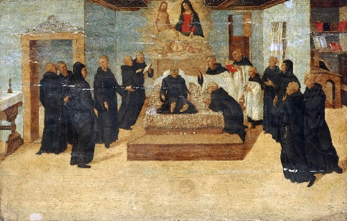 The Death of the Blessed Filippo Benizzi | Niccolo Giolfino | oil painting