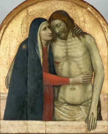 Christ in the Tomb and the Virgin   Niccoloe di Pietro Gerini   oil painting