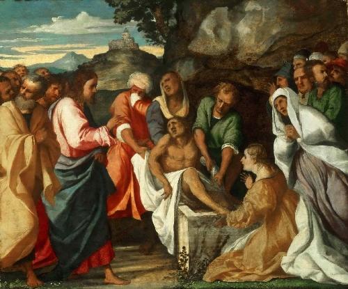 The Raising of Lazarus   Palma il Vecchio   oil painting