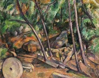 Millstone in the Park of the Chateau Noir | Paul Cezanne | oil painting