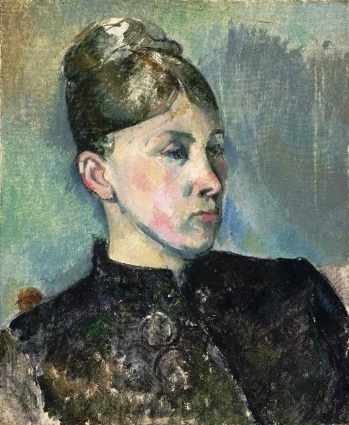 Portrait of Madame Cezanne v2   Paul Cezanne   oil painting