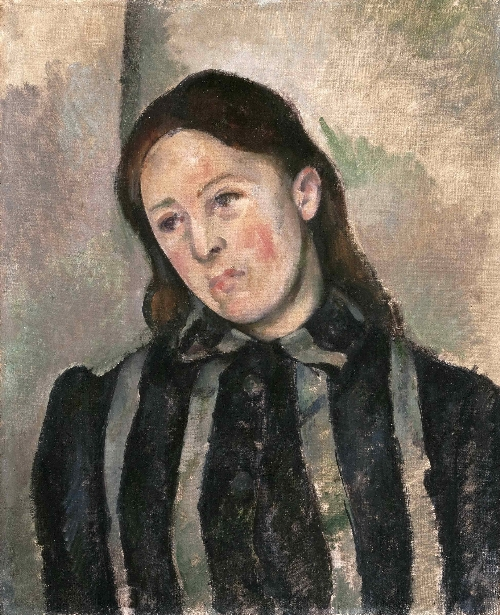 Portrait of Madame Cezanne v6 | Paul Cezanne | oil painting
