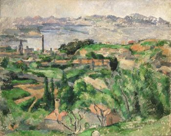 View of the Bay of Marseille with the Village of Saint-Henri | Paul Cezanne | oil painting