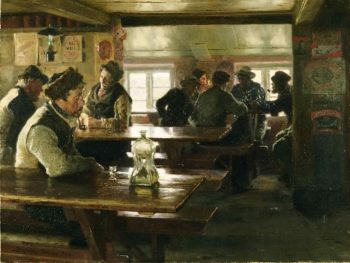 Interior of a Tavern | Peter Severin Kroyer | oil painting