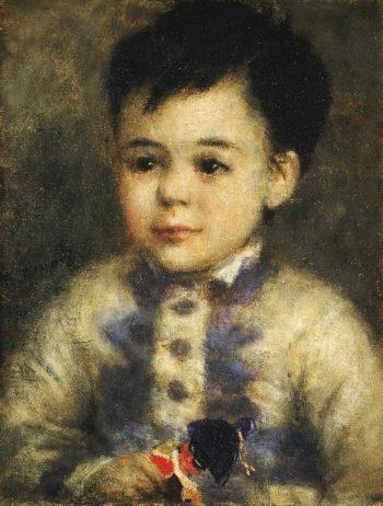 Boy with a Toy Soldier (Portrait of Jean de La Pommeraye) | Pierre-Auguste Renoir | oil painting