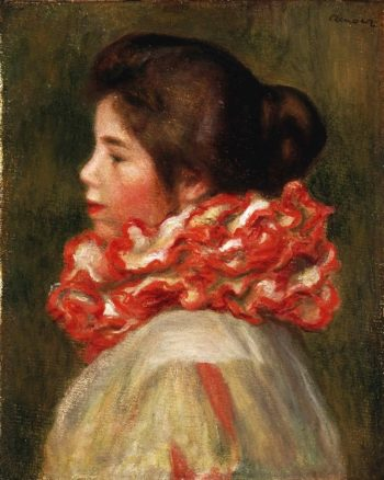 Girl in a Red Ruff | Pierre-Auguste Renoir | oil painting